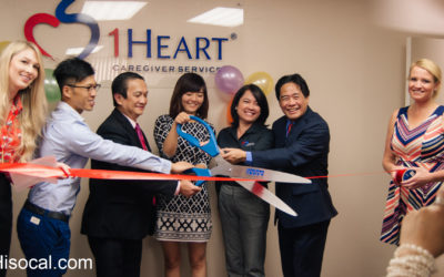 1Heart Caregivers Ribbon Cuttings IRvine Chamber